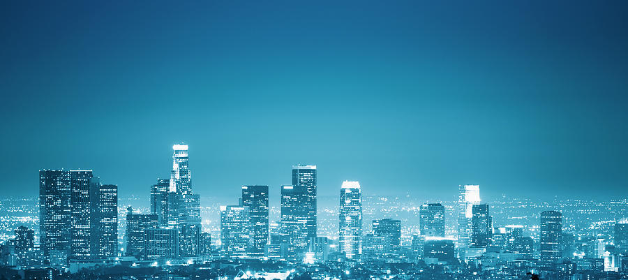 Los Angeles Skyline Photograph by Franckreporter