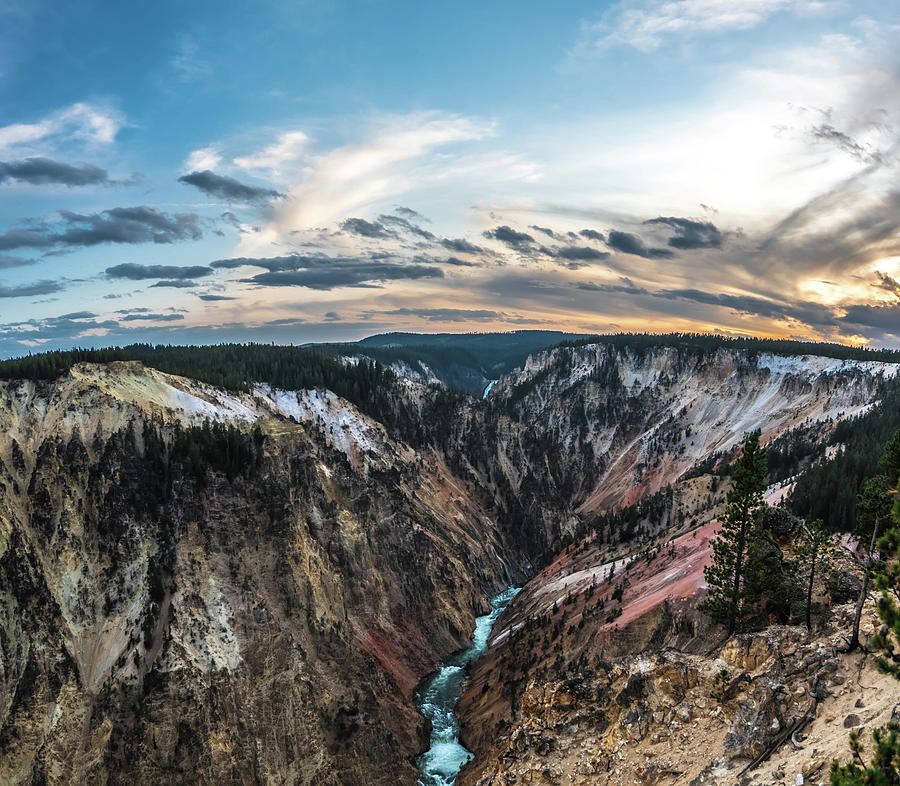 Lower Yellowstone Falls in the Yellowstone National Park by ALEX GRICHENKO