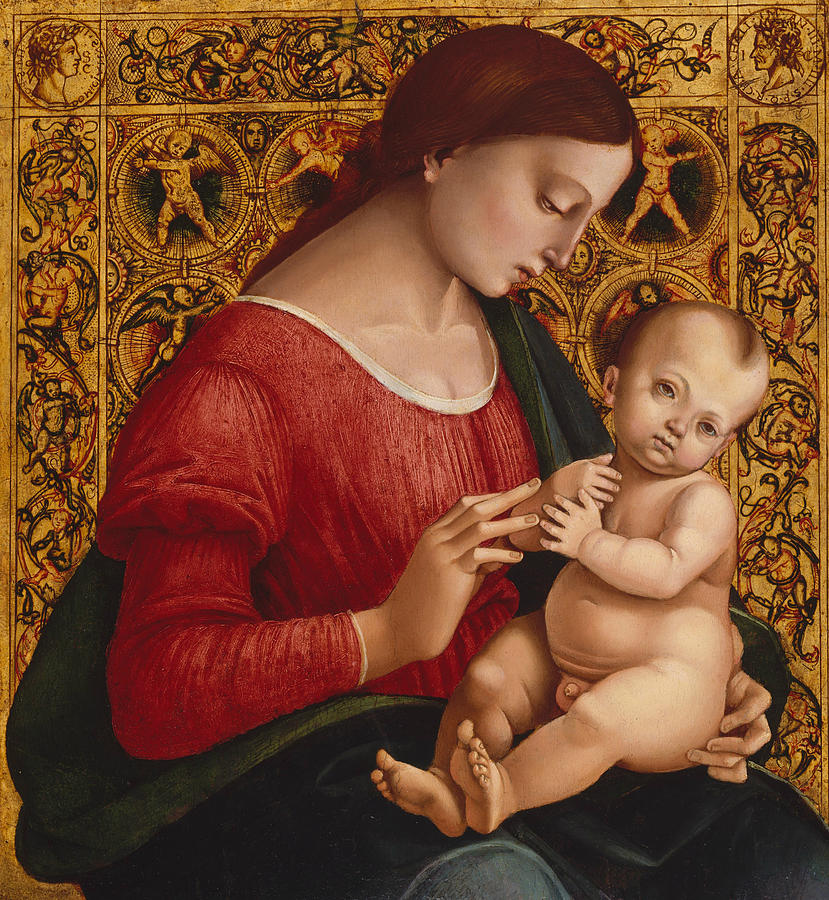 Italian Painters Painting - Madonna And Child by Luca Signorelli