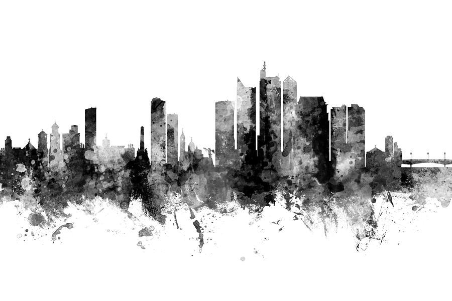 Manila Philippines Skyline by Michael Tompsett