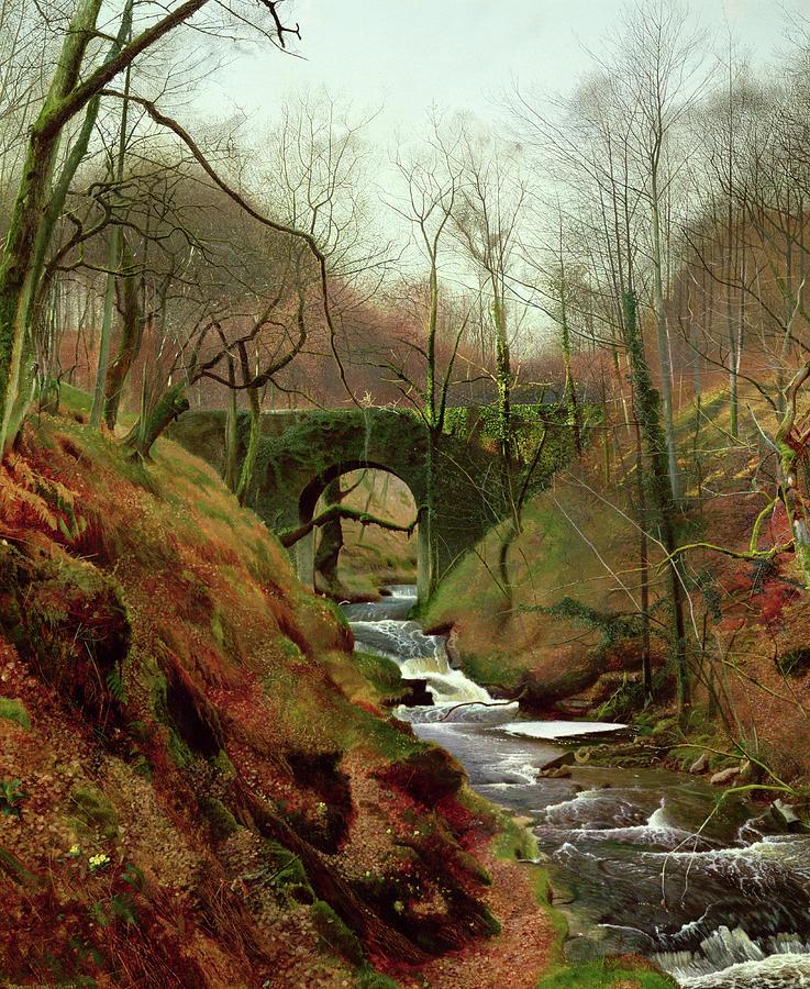 John Atkinson Grimshaw Painting - March Morning by John Atkinson Grimshaw