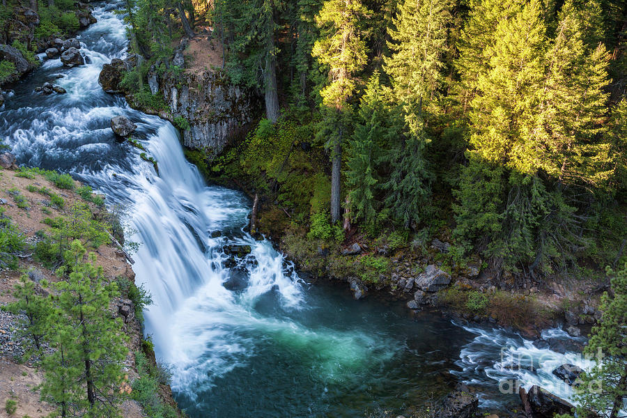 McCloud River and Middle Falls by Ken Brown