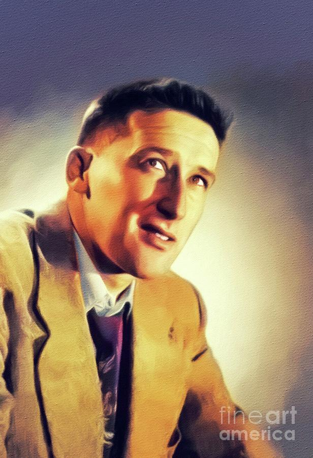 Mickey Painting - Mickey Spillane, Literary Legend by Esoterica Art Agency