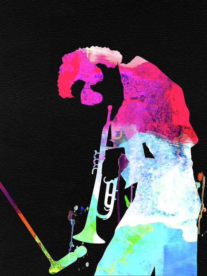 Miles Davis Mixed Media - Miles Watercolor by Naxart Studio
