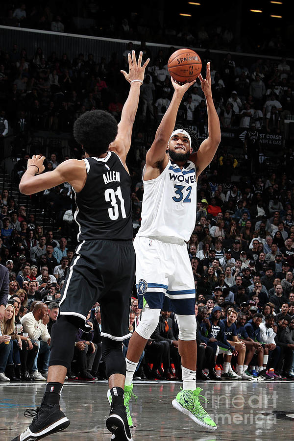 Minnesota Timberwolves V Brooklyn Nets Photograph by Nathaniel S. Butler