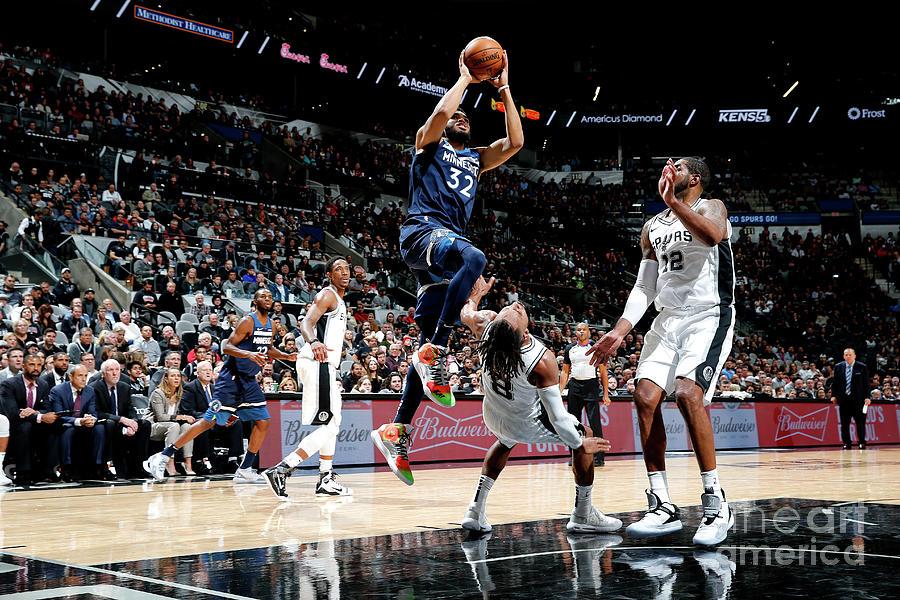 Minnesota Timberwolves V San Antonio Photograph by Chris Covatta