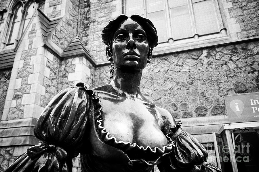 Dublin Photograph - Molly Malone Statue In Suffolk Street Showing Wear Off On The Breasts Due To The handsy Tradition  by Joe Fox