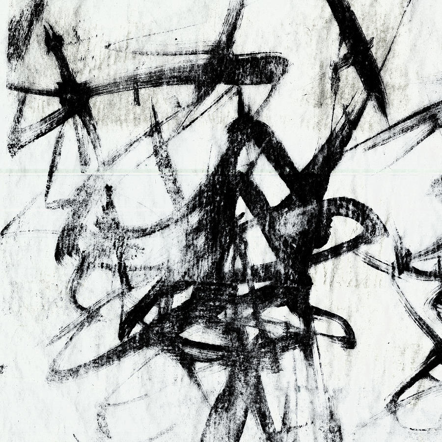 Monotype Scribble I Painting By Jennifer Goldberger