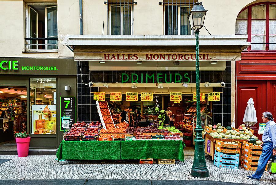 Montorgueil District In Paris, France Photograph by Bruno De Hogues