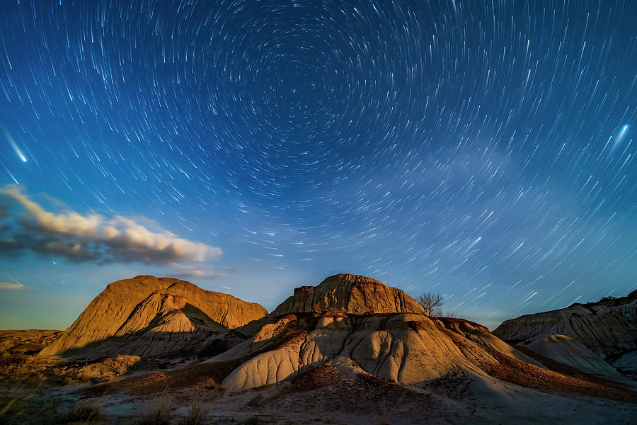 Moonrise Over The Eroding Formations by Alan Dyer