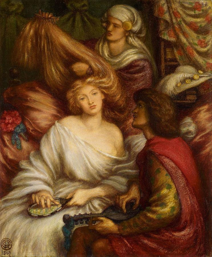 Morning Music Painting - Morning Music by Dante Gabriel Rossetti