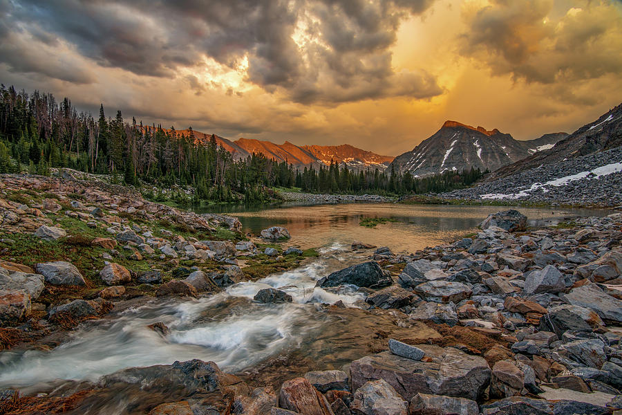 Altitude Photograph - Mountain Glow by Leland D Howard