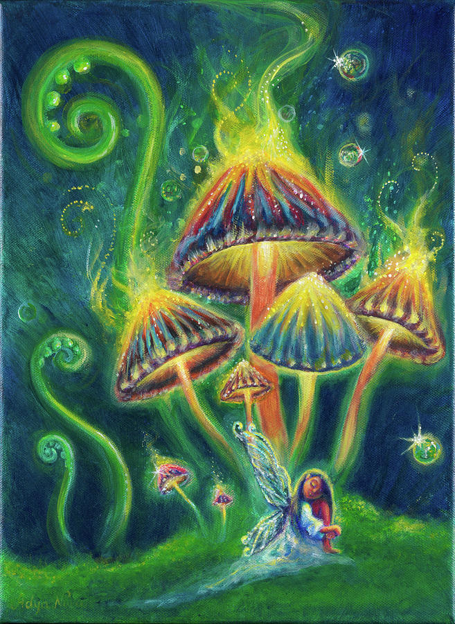 Mushrooms Painting - Mushroom Magic by Adya Nova