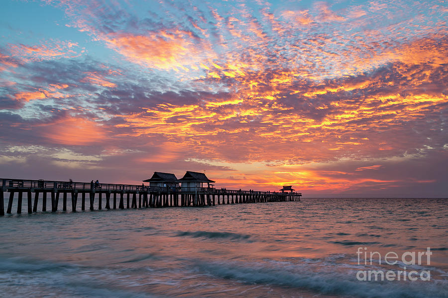 Naples Pier at Sunset by Brian Jannsen