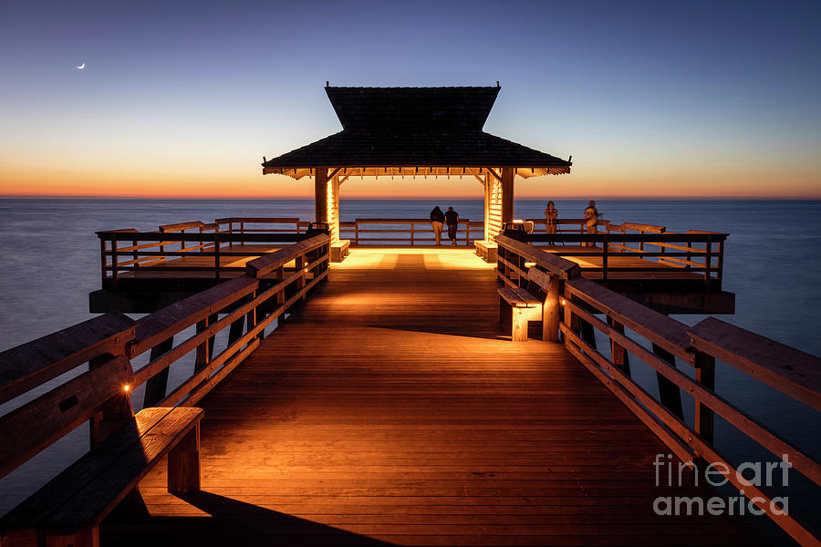 Naples Pier Twilight by Brian Jannsen