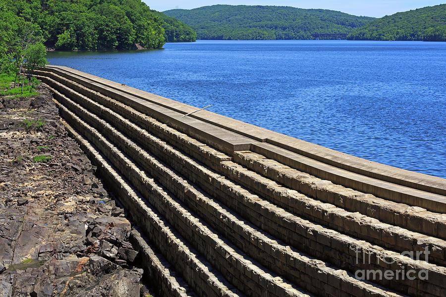 New Croton Dam Photograph - New Croton Dam At Croton On Hudson New York by Louise Heusinkveld