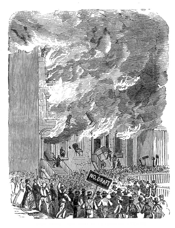 New York City Draft Riots, 1863 by BRITISH LIBRARY