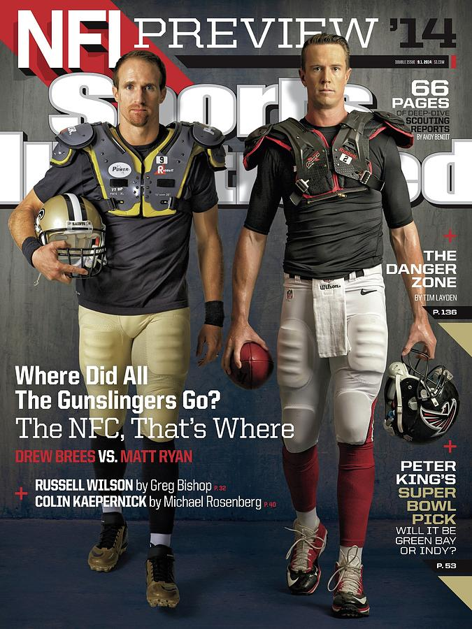 Nfc Gunslingers 2014 Nfl Football Preview Issue Sports Illustrated Cover Photograph by Sports Illustrated