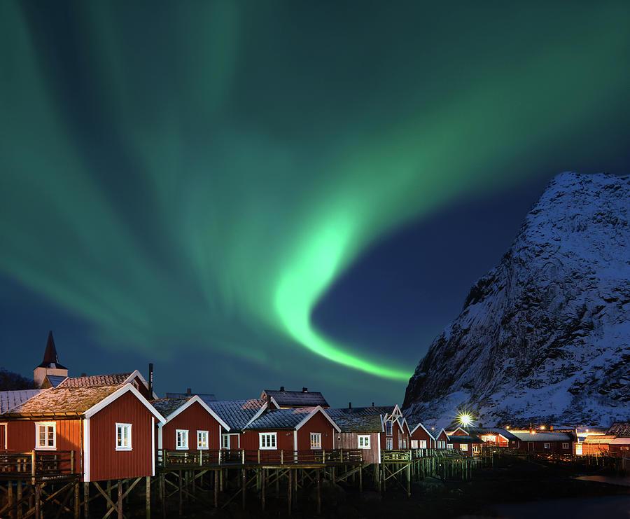 Northern Lights - Aurora Borealis Over Photograph by Relaxfoto.de