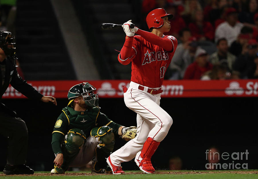 Oakland Athletics V Los Angeles Angels Photograph by Victor Decolongon