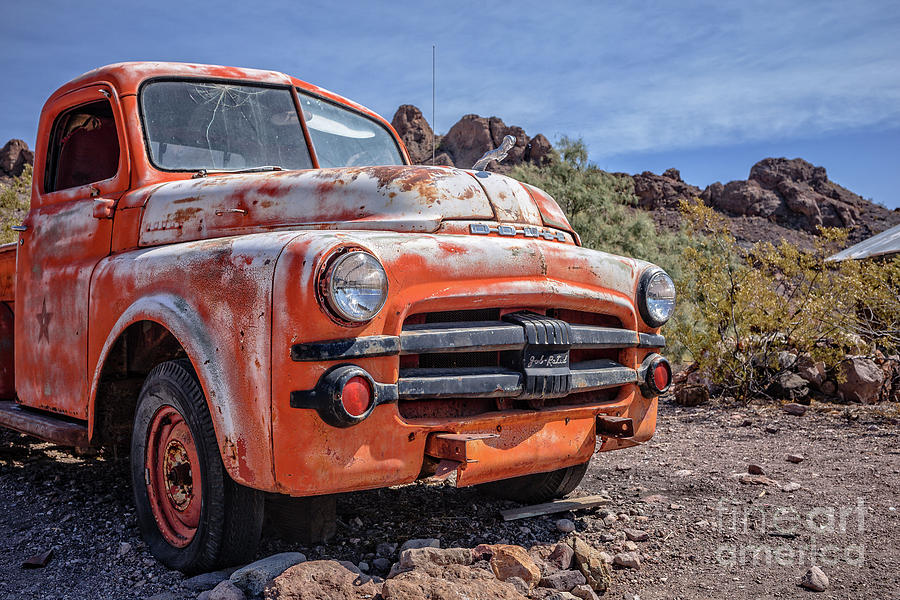 Old Dodge Trucks >> Old Dodge Truck In The Desert Photograph By Edward Fielding