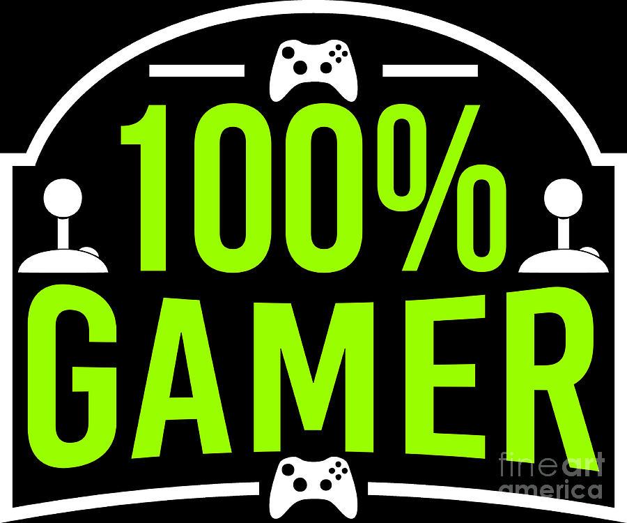 Online Gaming Nerd 100 Gamer Birthday Gift Idea Digital Art By