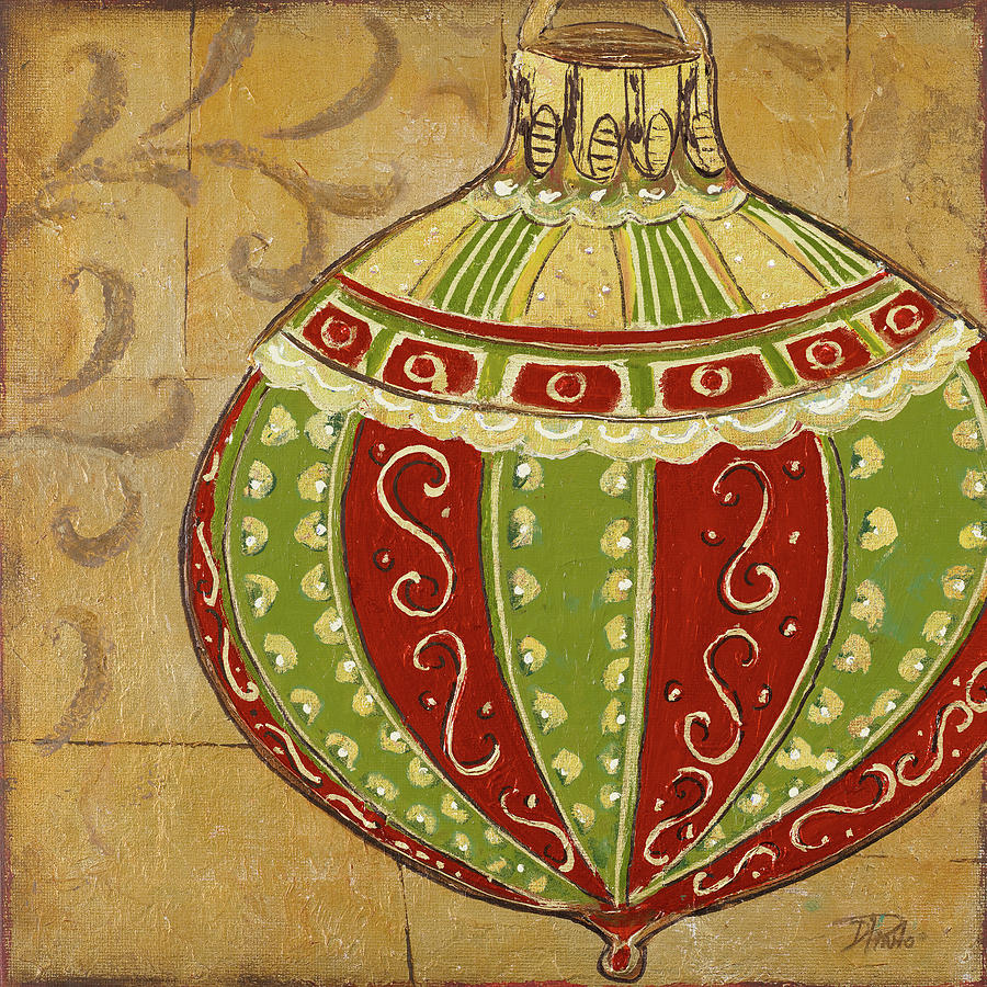 Christmas Painting - Ornament I by Patricia Pinto