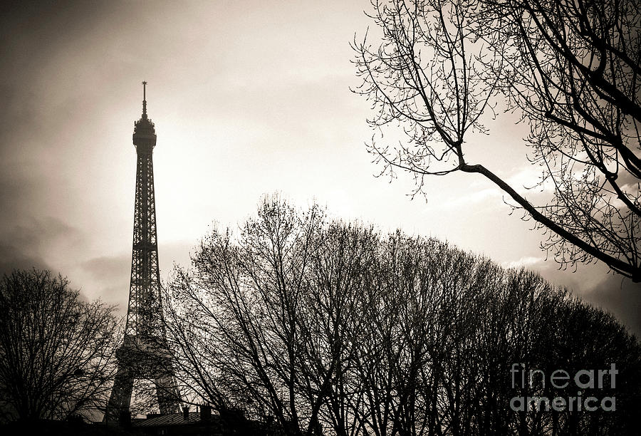 Weather Photograph - Paris  Eiffel Tower At Sunset by Bernard Jaubert
