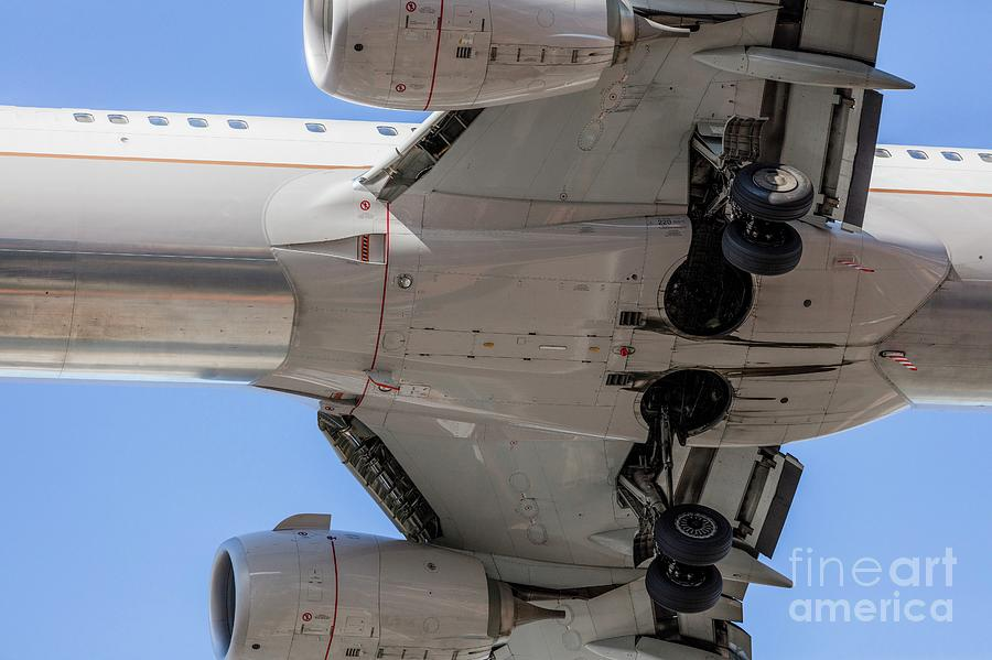 Aeroplane Photograph - Passenger Jet From Below 2 by Photostock-israel/science Photo Library