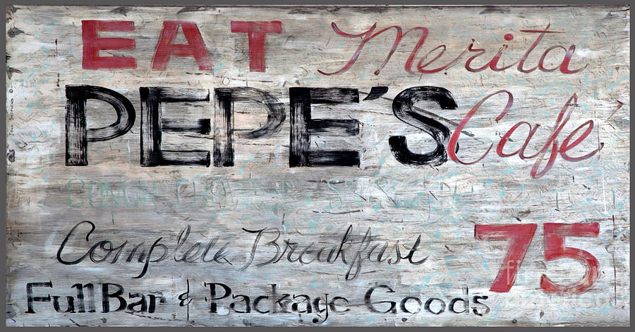 Pepes Cafe Sign Key West Florida Photograph