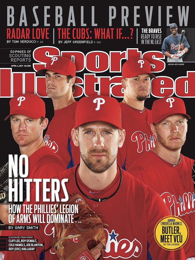 Philladelphia Phillies Starting Five, 2011 Mlb Baseball Sports Illustrated Cover Photograph by Sports Illustrated
