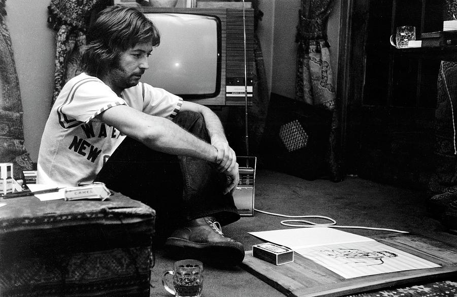 Music Photograph - Photo Of Eric Clapton 2 by Graham Wiltshire