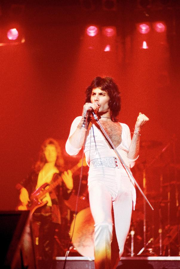 Photo Of Freddie Mercury And Queen Photograph by Fin Costello