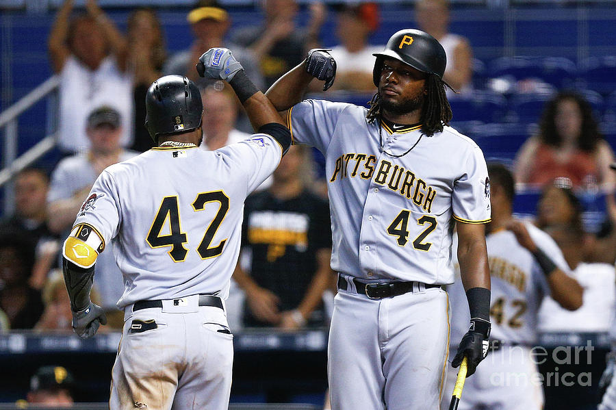 Pittsburgh Pirates V Miami Marlins Photograph by Michael Reaves