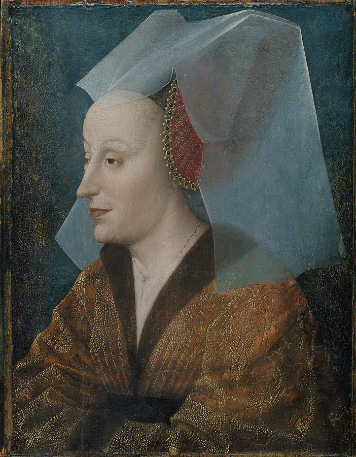 Woman Painting - Portrait Of A Noblewoman by MotionAge Designs