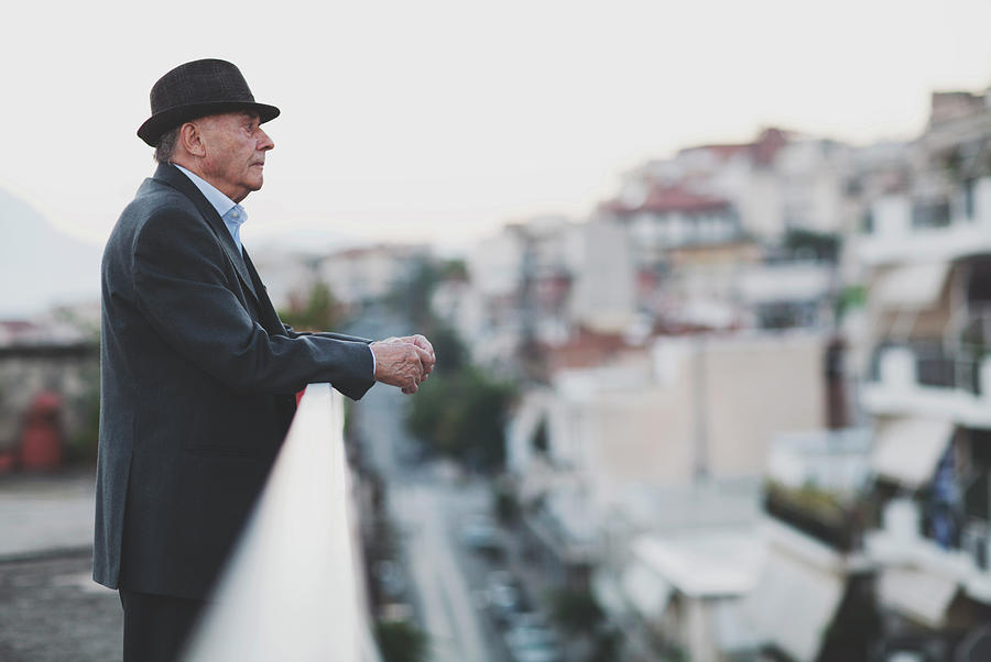 Portrait Of A Senior Man Photograph by Thanasis Zovoilis