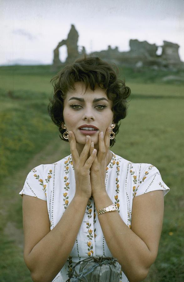 Portrait Of Sophia Loren 2 Photograph by Loomis Dean