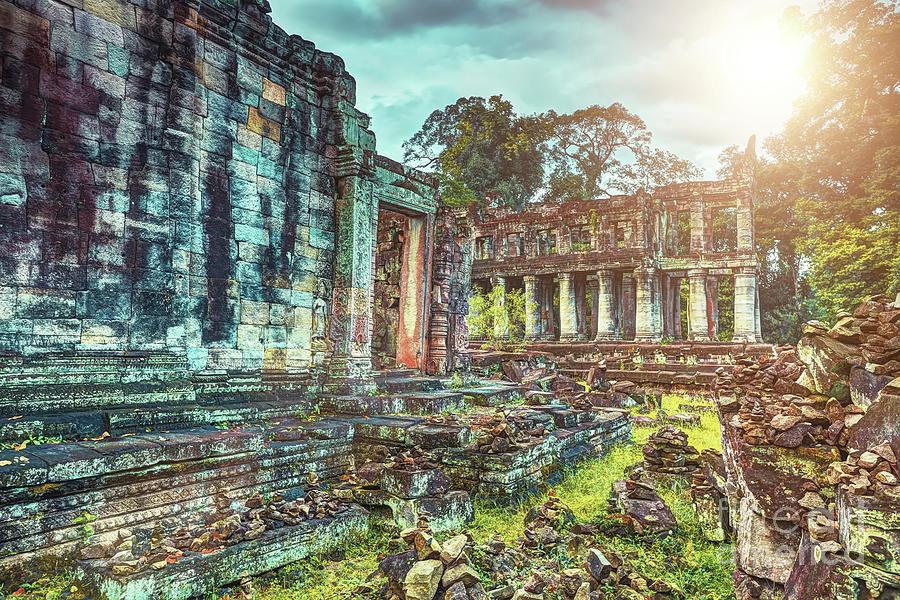 Preah Khan Temple Angkor Wat Unesco World Heritage Site Photograph