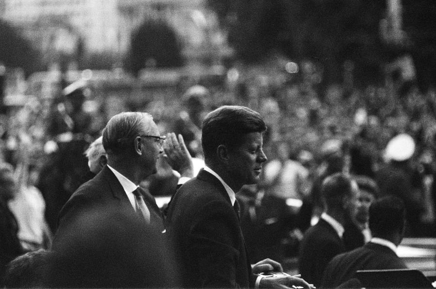 President Kennedy Arrives In Berlin Photograph by Michael Ochs Archives