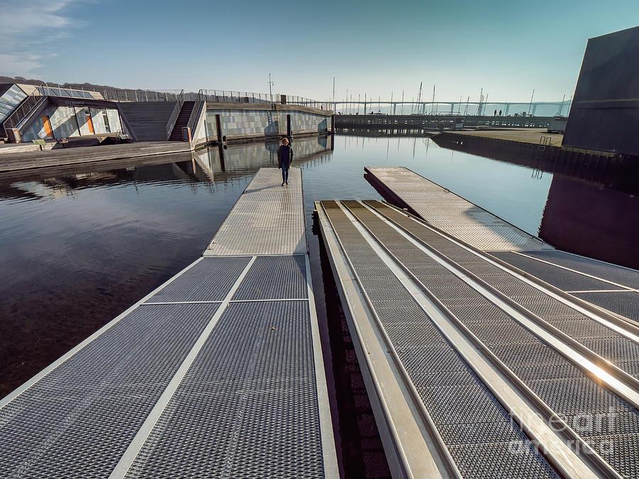 Public Open Harbor In Vejle, Denmark Photograph
