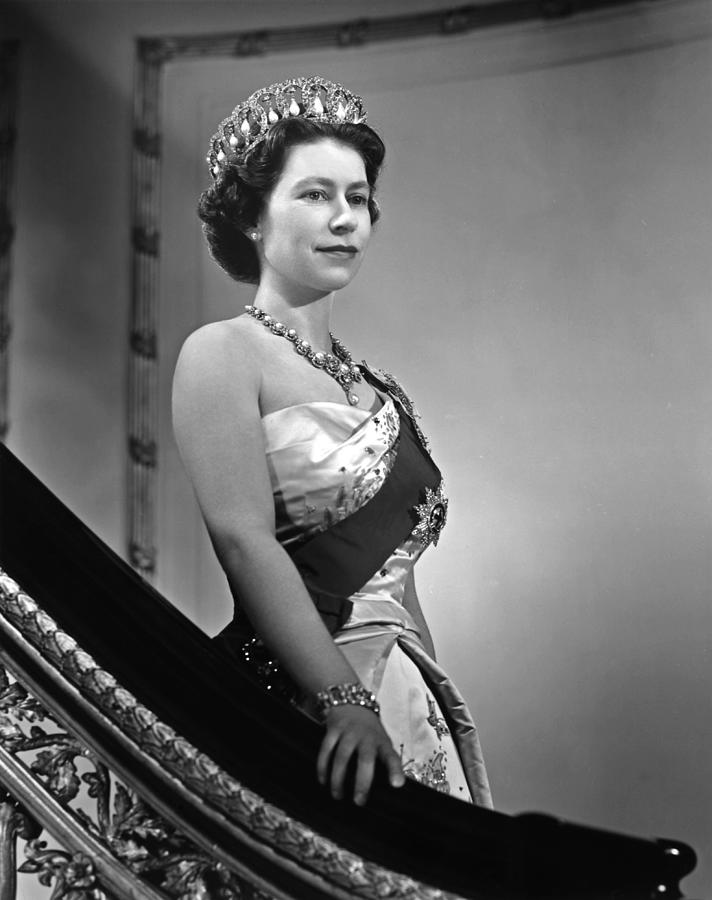 Queen Elizabeth II Portrait Photograph by Michael Ochs Archives