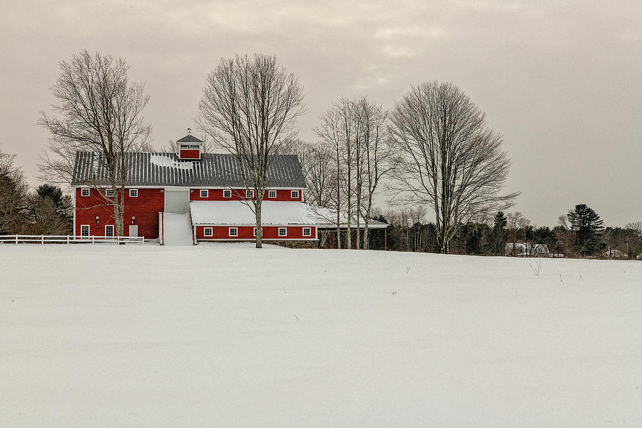 Barn Photograph - Red Barn 2 by Bob Doucette