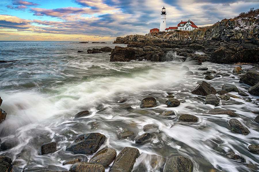 Rising Tide at Portland Head by Rick Berk