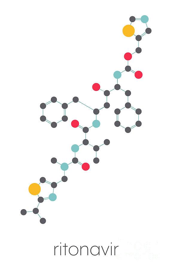 Ritonavir Photograph - Ritonavir Hiv Drug 2 by Molekuul/science Photo Library