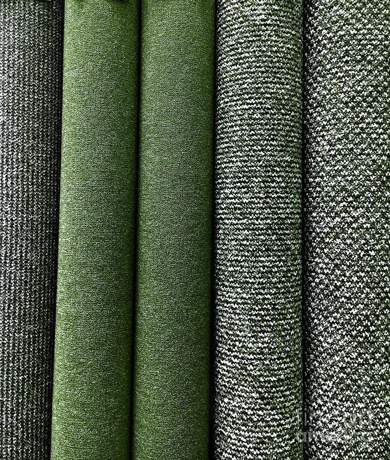 Rolls of new carpet by Tom Gowanlock