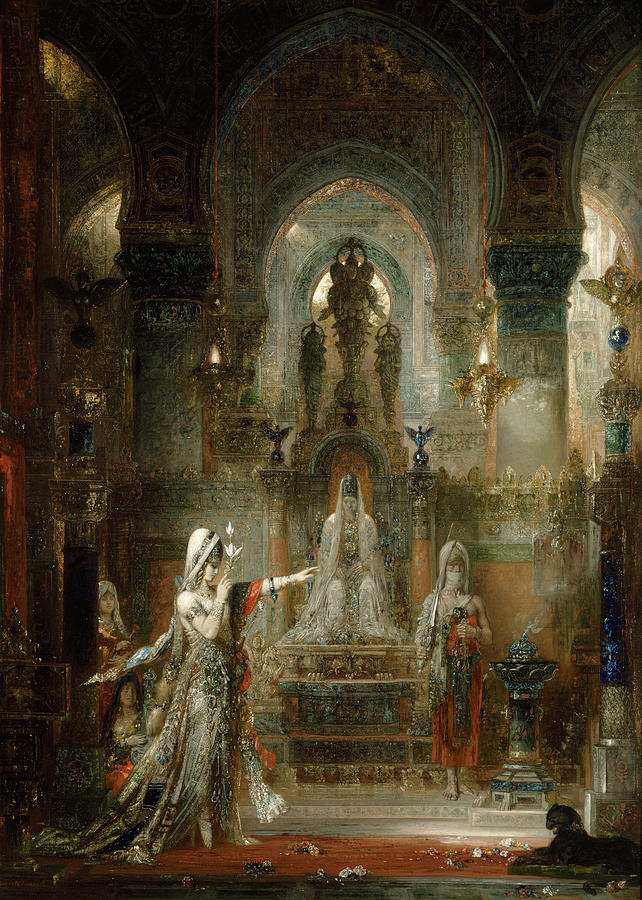 Salome Painting - Salome Dancing Before Herod by Gustave Moreau
