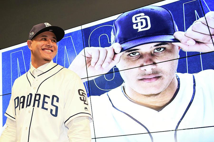 San Diego Padres Introduce Manny Machado 2 Photograph by Jennifer Stewart