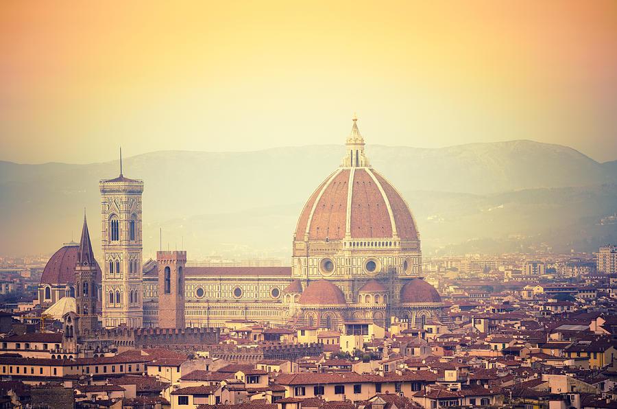 Santa Maria Novella Dome In Florence At Photograph by Franckreporter