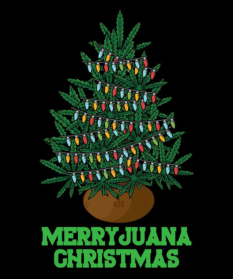 Dark Christmas.Santa Marijuana Weed Snowman Funny Christmas Gift Dark Light