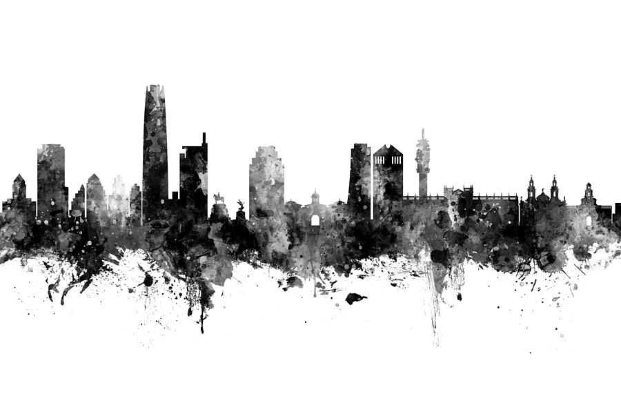 Santiago de Chile Skyline by Michael Tompsett